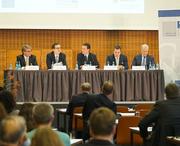 From left: Theodor Weimer (HypoVereinsbank – UniCredit Bank AG), Stefan Rüping (Fraunhofer-Institut, IAIS), Günter Beck (SAFE), Andreas Wolf (McKinsey) and Andreas Dombret (Deutsche Bundesbank)