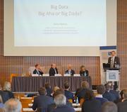 From left: Paul Robinson (Bank of England), Hans-Helmut Kotz (SAFE), Aurel Schubert (ECB), Loriana Pelizzon (SAFE) and Stefan Mittnik (LMU Munich)