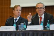 From left: Axel Wieandt (WHU) and Joachim Schmalzl (Sparkasse KölnBonn)